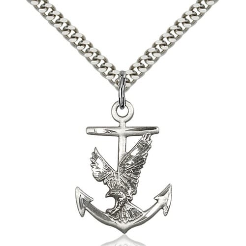 Sterling Silver Anchor / Eagle Pendant