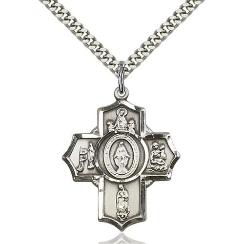 4-Way Sterling Silver Apparitions Cross Pendant