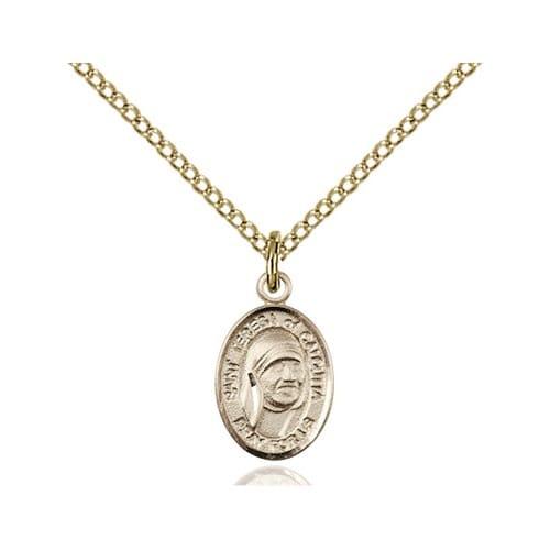 14kt Gold Filled Blessed Teresa of Calcutta Petite Pendant