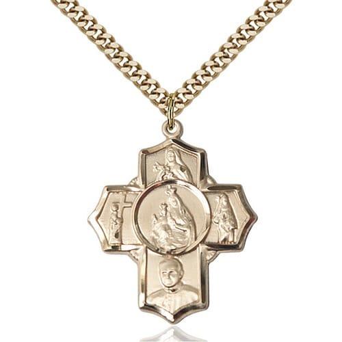 14kt Gold Filled Carmelite 4-Way Pendant