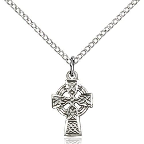 Sterling Silver Celtic Cross Petite Pendant