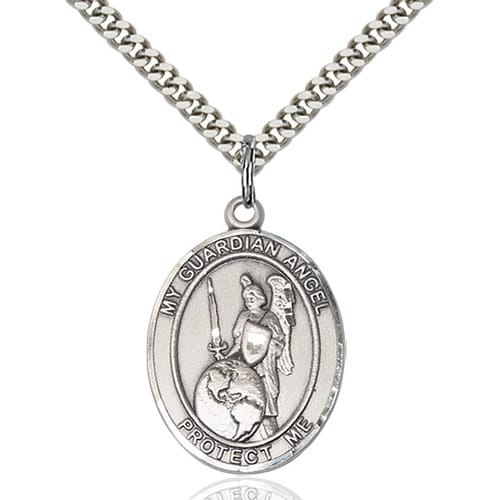 Sterling Silver Guardian Angel of the World Pendant