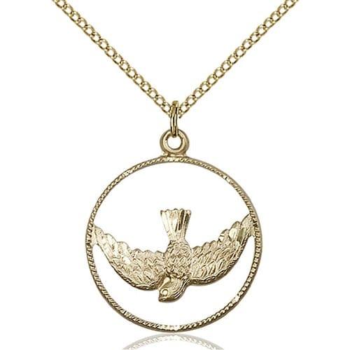 14kt Gold Filled Holy Spirit Pendant