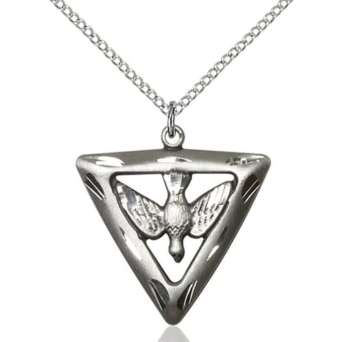 Sterling Silver Holy Spirit / Triangle Pendant
