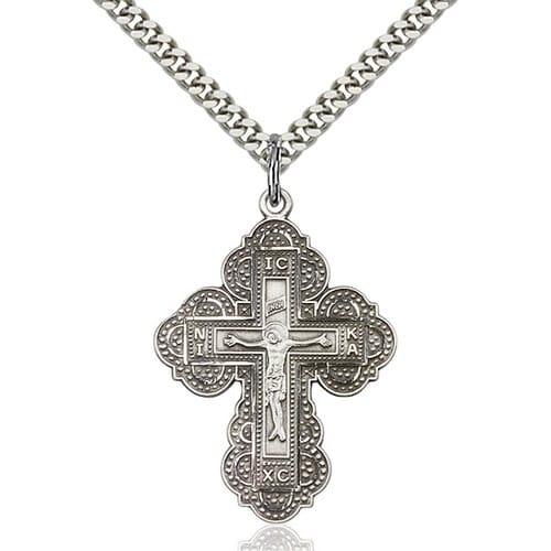 Sterling Silver Irene Cross Pendant