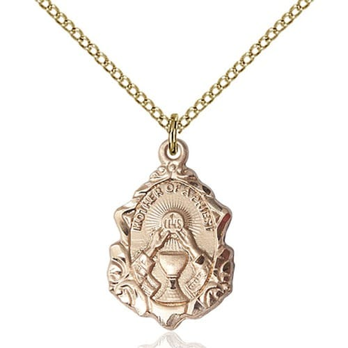 14kt Gold Filled Mother of a Priest Pendant