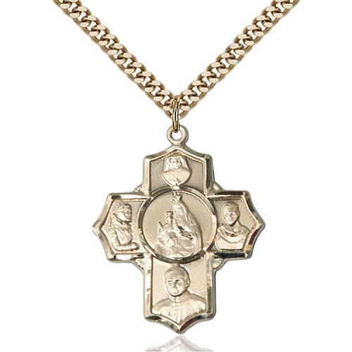 14 Karat 4-Way Medal Pendant, by Versil With 18-inch Chain 24493084