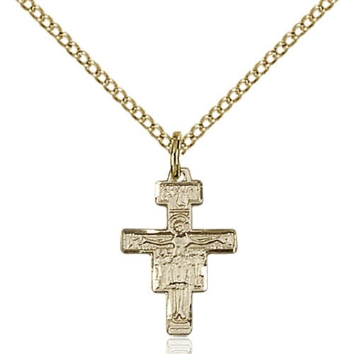 14kt Gold Filled San Damiano Crucifix Pendant