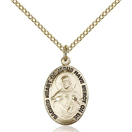 14kt Gold Filled Scapular Medal