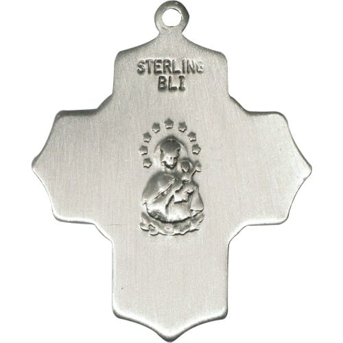 Sterling Silver Scapular 4-Way Pendant