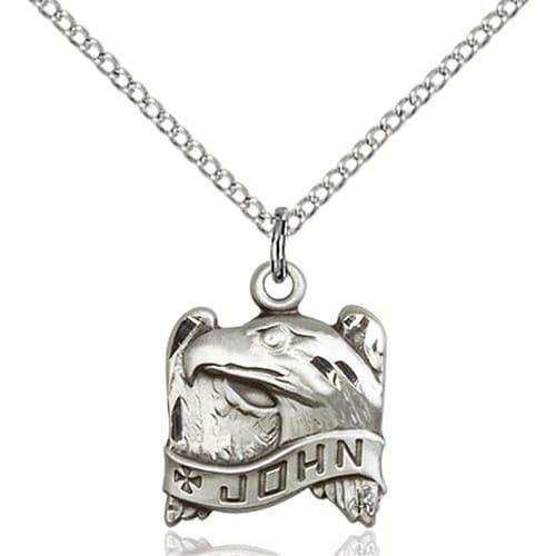 Sterling Silver St. John Pendant