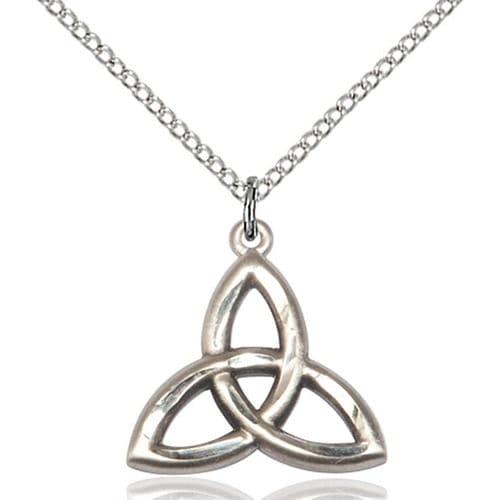 Sterling Silver Trinity Irish Knot Pendant