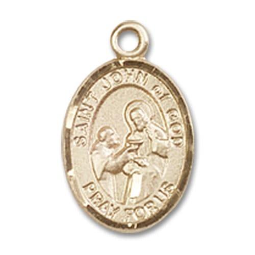 14kt Gold St. John of God Medal