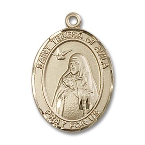 14kt Gold St. Teresa of Avila Medal
