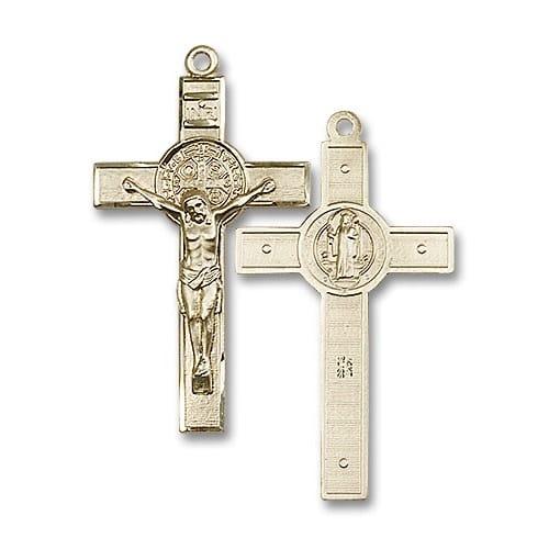 14kt Gold St. Benedict Crucifix Medal