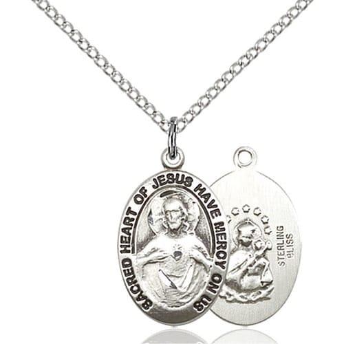 Sterling Silver Scapular Medal