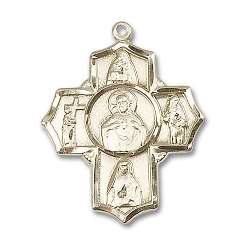 14kt Gold Scapular 4-Way Medal