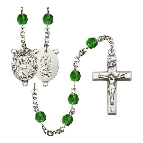 Scapular Green May Rosary 6mm
