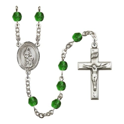 St. Anne Green May Rosary 6mm