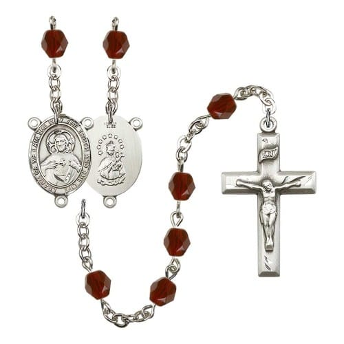 Scapular Red January Rosary 6mm