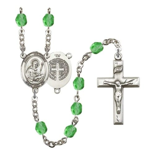St. Benedict Green August Rosary 6mm