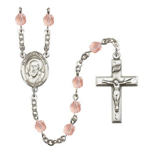 St. Francis De Sales Pink October Rosary 6mm