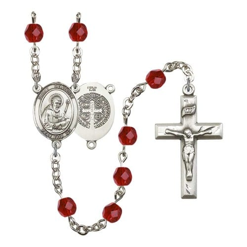 St. Benedict Red July Rosary 6mm