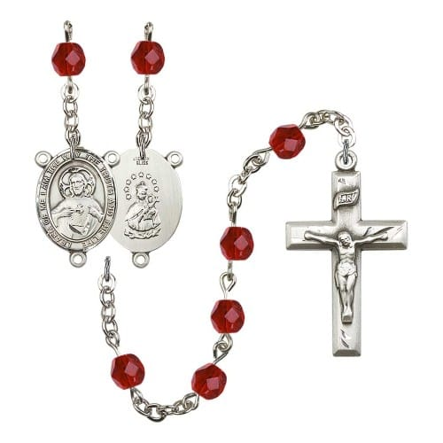 Scapular Red July Rosary 6mm