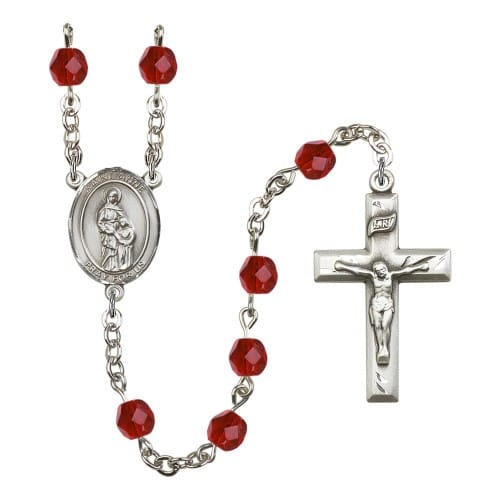 St. Anne Red July Rosary 6mm