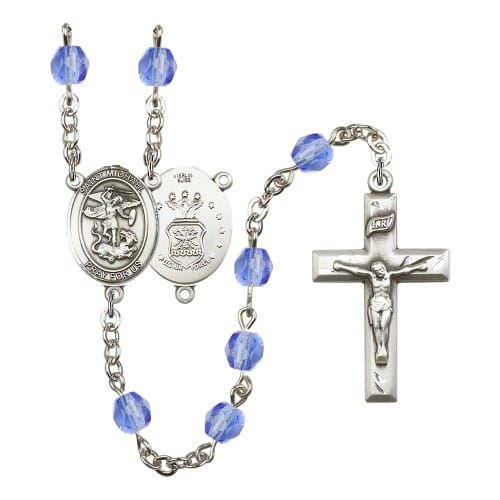 St. Michael / Air Force Blue September Rosary 6mm