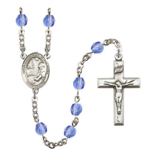 St. Catherine Of Bologna Blue September Rosary 6mm