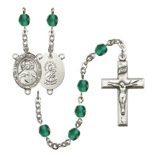 Scapular Teal December Rosary 6mm