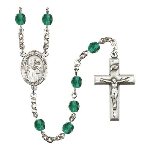St. John Of The Cross Teal December Rosary 6mm