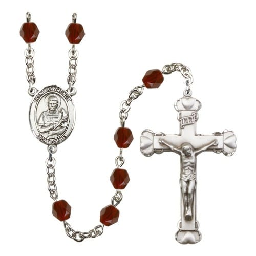 St. Lawrence Red January Rosary 6mm