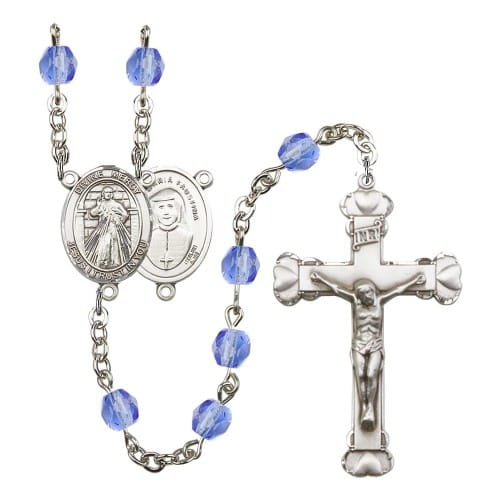 Divine Mercy Blue September Rosary 6mm