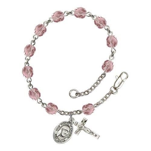 Blessed Teresa Of Calcutta 6mm light purple June Rosary Bracelet