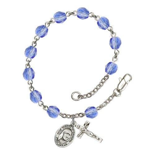 Blessed Teresa Of Calcutta Blue September Rosary Bracelet 6mm