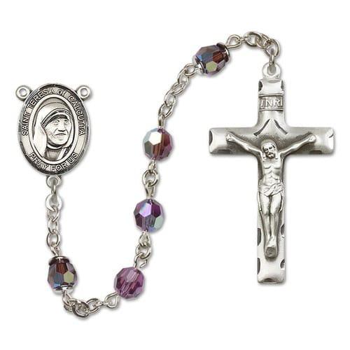SS Purple February Blessed Teresa of Calcutta Rosary