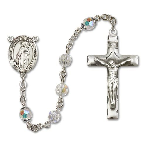 SS Crystal April St. Catherine of Alexandria Rosary