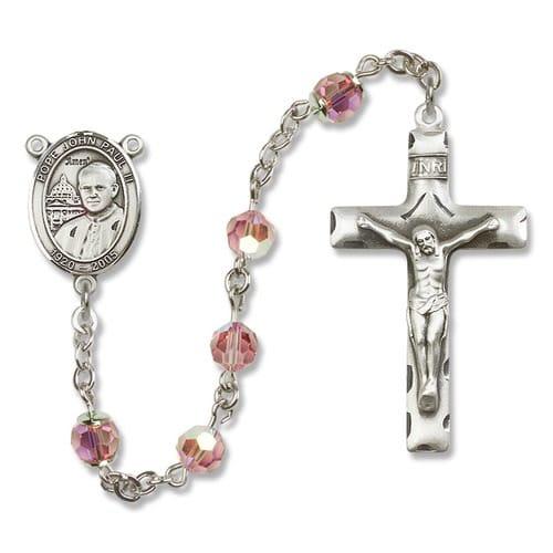 SS Light Rose October St. John Paul II Rosary