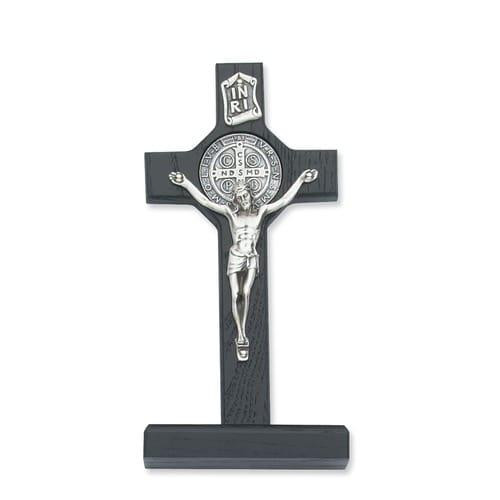 "Black Standing St. Benedict Crucifix 6"""