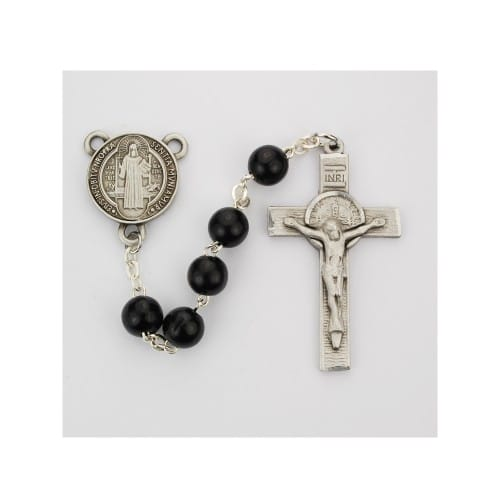 Black Wood St. Benedict Rosary
