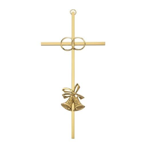 "50th Anniversary Brass Cross 8"""