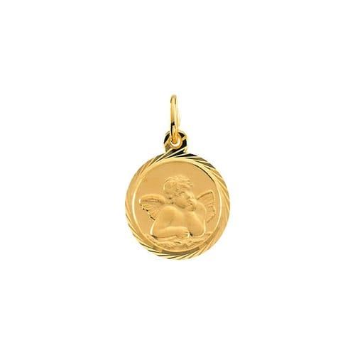 14kt Yellow Gold 12mm Angel Pendant