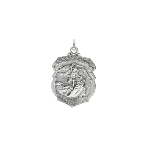 Sterling Silver 28x21mm St. Michael Medal