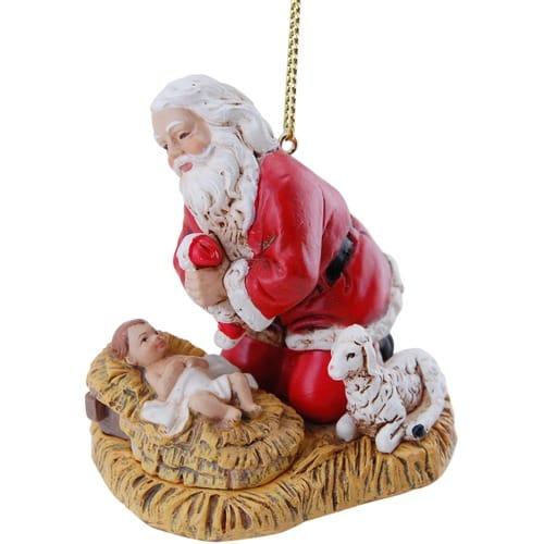 Kneeling Santa Ornament