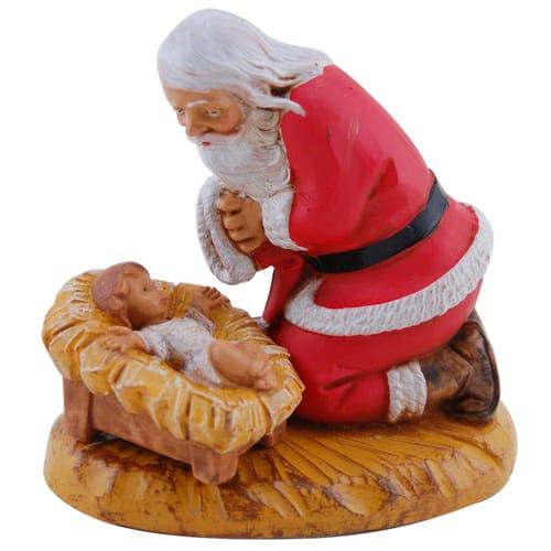 Fontanini Kneeling Santa Figure