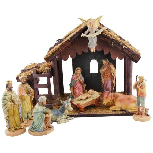 DiGiovanni 10 pc. Nativity w/ Stable, 6 inch Figures