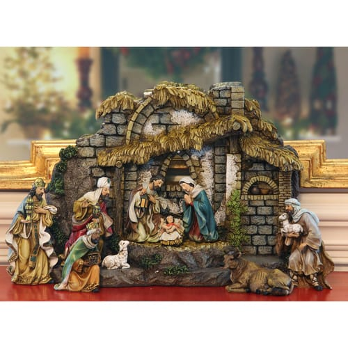 Fine Nativity and Stable Scene, 10 piece set