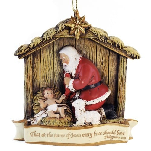 Kneeling Santa Verse Ornament